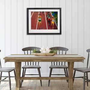 Sonia O'Sullivan Olympics in room setting