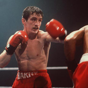 Barry McGuigan in action 1985