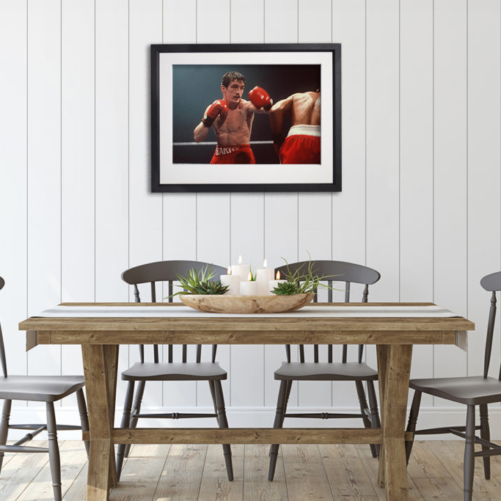 Barry McGuigan In Action in room setting