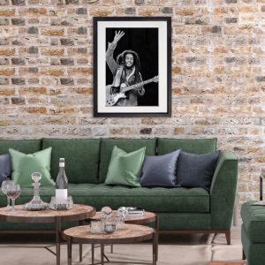 Bob Marley 2. Dublin 1980 in room setting