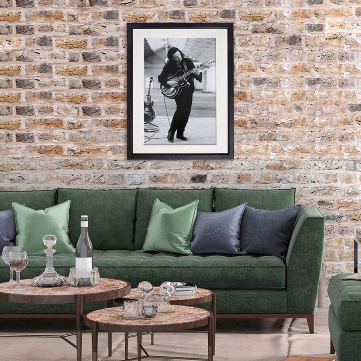 Bono Guitar practice Dublin 1989 in room setting
