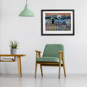Mark Fleming City scape in room setting