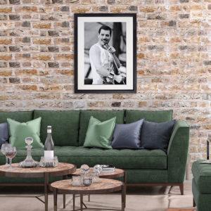 Freddie Mercury Ireland 1986 in room setting