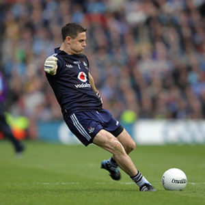 Stephen Cluxton kicks the winning point