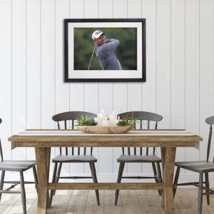 Padraig Harrington Golf in room setting