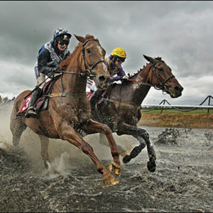 Patrick Mullins in a battle with Nina Carberry