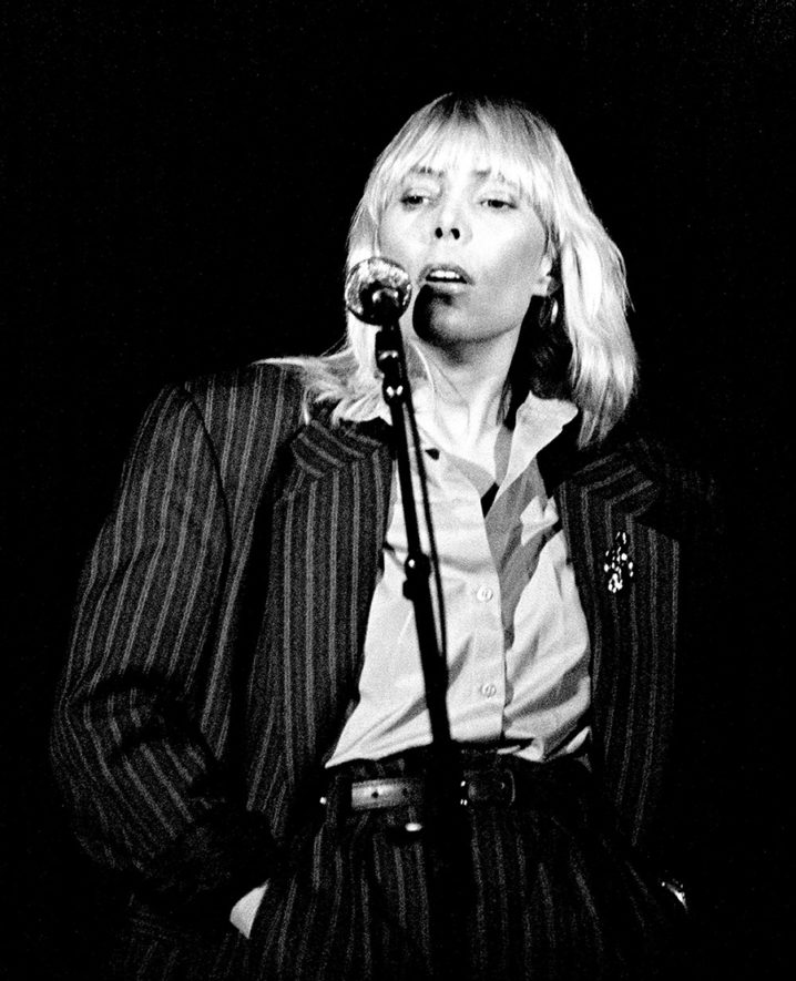 Joni Mitchell makes her only Irish performance ever at the RDS arena in Dublin 1983.