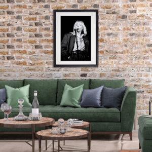 Joni Mitchell Dublin 1983 in room setting