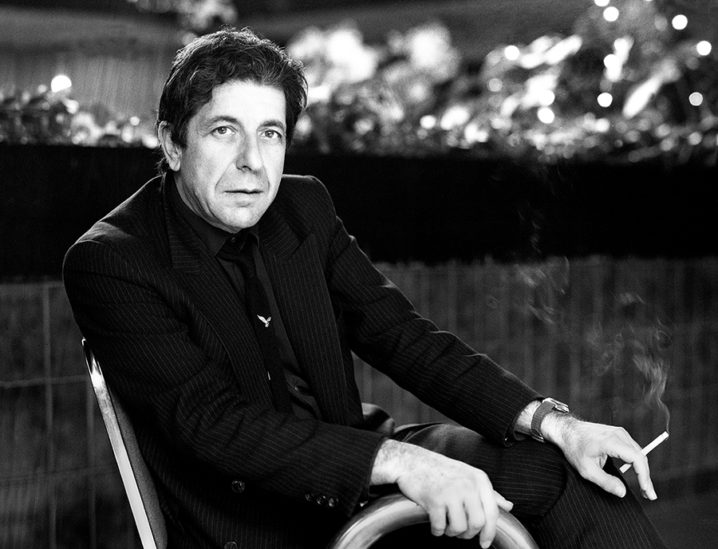 Leonard Cohen's first Irish performance at The Olympia Theatre in Dublin city. This photo was done at the swimming pool in Jury's Hotel Dublin before he went downtown to his gig.