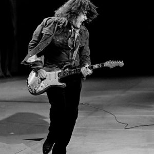 Rory Gallagher performing at the RDS in Dublin city 1984.