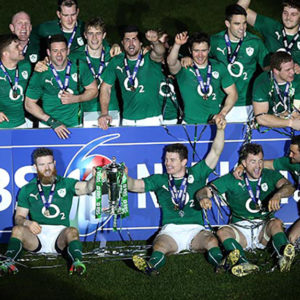 IRFU RBS Six Nations Ireland Pitch Celebrations