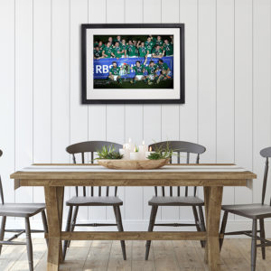 Irish Rugby Pitch Celebration in room setting