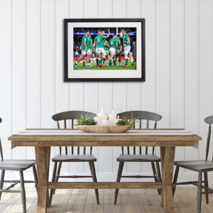 Irish Rugby Six Nations in room setting