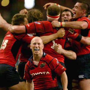 Peter Stringer with Munster Players
