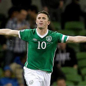 Robbie Keane Celebrates after scoring