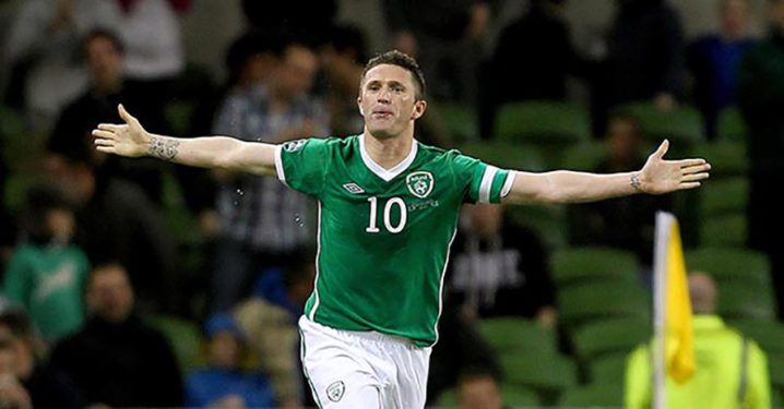 Robbie Keane Celebrates after scoring
