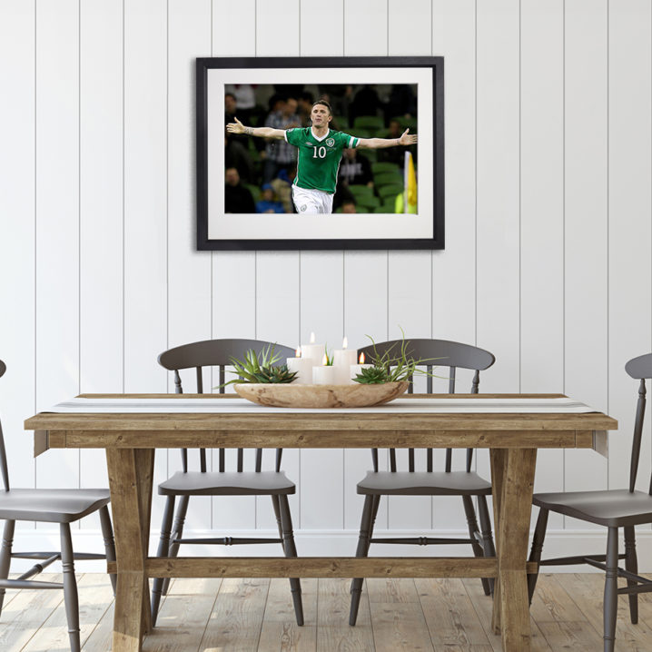 Soccer Ireland Robbie Keane in room setting