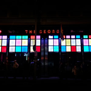 One of the most famous bars in Dublin basks in nightly Neon on Georgest Street .