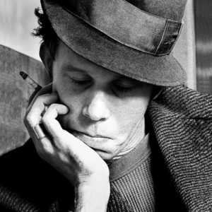 Tom Waits getting into character for his performance at the Olympia Theatre in Dublin 1983.