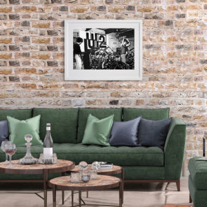 U2 in Dublin City 1979 in room setting