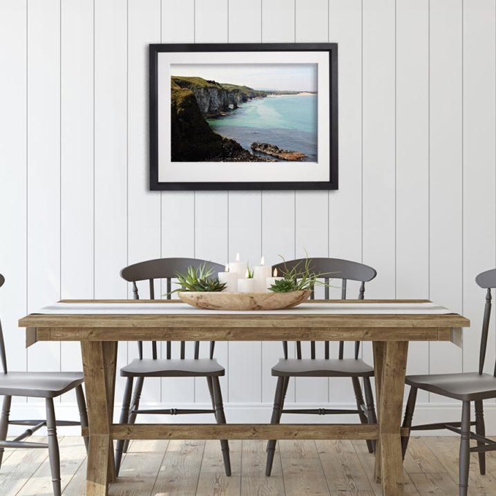 Antrim Coast in room setting