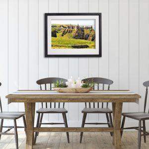 Antrim Dunluce Castle in room setting