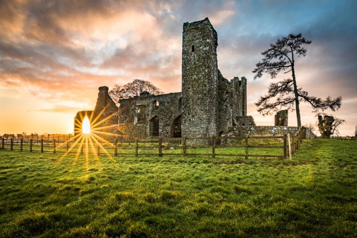 Sunrise at the Abbey - a nice summer morning in spring.