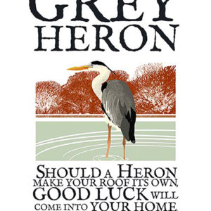 A4 or A3 print of the Grey Heron