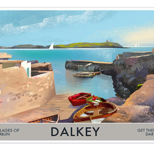 A4 or A3 Print of Dalkey- Villages of Dublin
