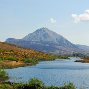 Errigal overlooking Clady river Donegal