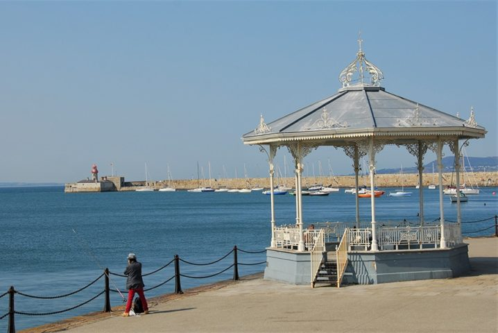 Fishing on Dun Laoghaire Pier