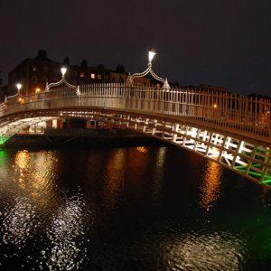 The Ha'Penny Bridge at Night
