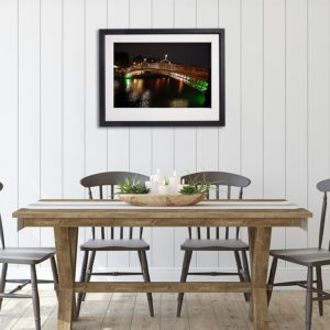Dublin Halpenny Bridge 4 in room setting