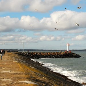 Pier Wall to Lighthouse