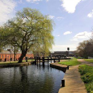 Lock on Royal Canal at Phibsboro near Mountjoy Prison
