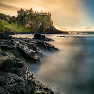 A 5 minute exposure of Dunluce Castle.