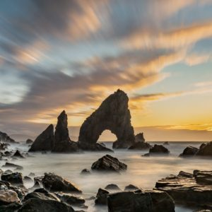 As the sun sets at Crohy Sea Arch I am treated to beautiful colours of this amazing location.