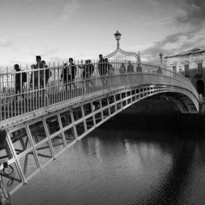 Hapenny Bridge traffic