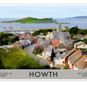 A4 or A3 Print of Howth- Villages of Dublin