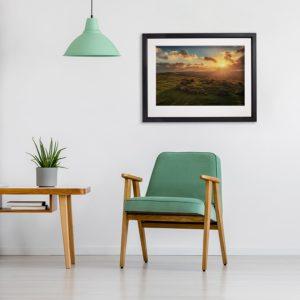Loughcrew Sunset in room setting