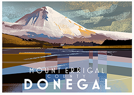 Poster of County Donegal featuring Mount Errigal
