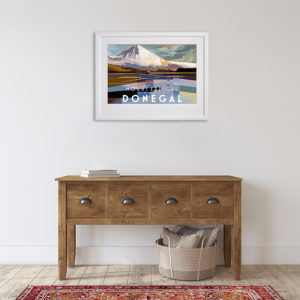 County Donegal featuring Mount Errigal in room setting