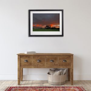 N81 Sunset in room setting