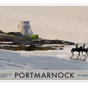 A4 or A3 Print of Portmarnock- Villages of Dublin