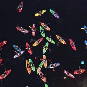 The Poulaphouca kayaking club having fun.
