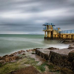 A famous place for swimming at Salthill taken on a summer evening.