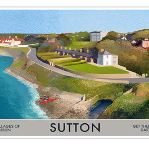 A4 or A3 Print of Sutton - Villages of Dublin
