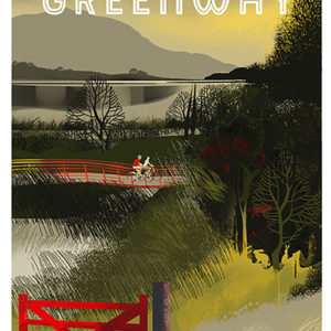 Poster of the Great Western Greenway cycling and walking route between Achill sound and Mulranny