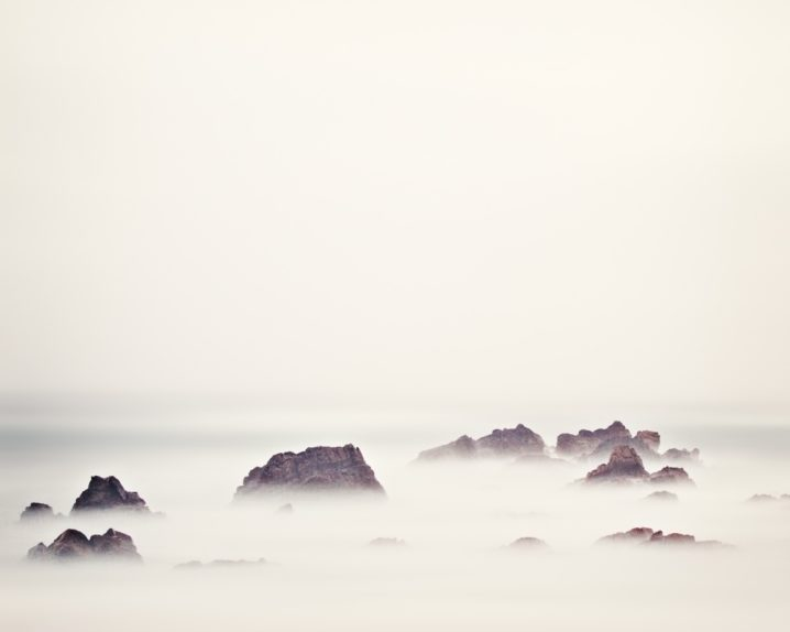 This beautifully subtle and pastel ocean photograph was taken from a beach on the malin Head Peninsula in Donegal