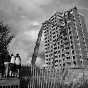 Ballymun Tower demolishing